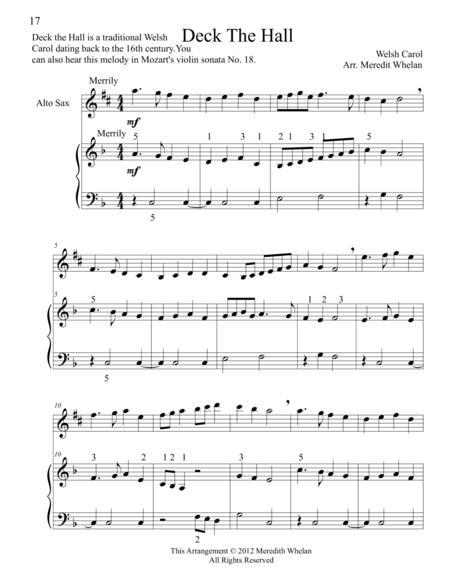 Christmas Duets for Alto Saxophone & Piano:  11 Traditional Carols