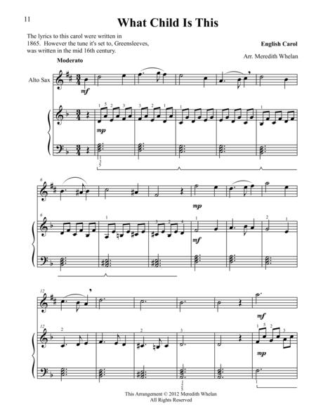 Christmas Duets for Alto Saxophone & Piano:  What Child is This (Greensleeves)