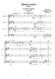 Miserere nostri - Motet for Choir SAATTB a cappella