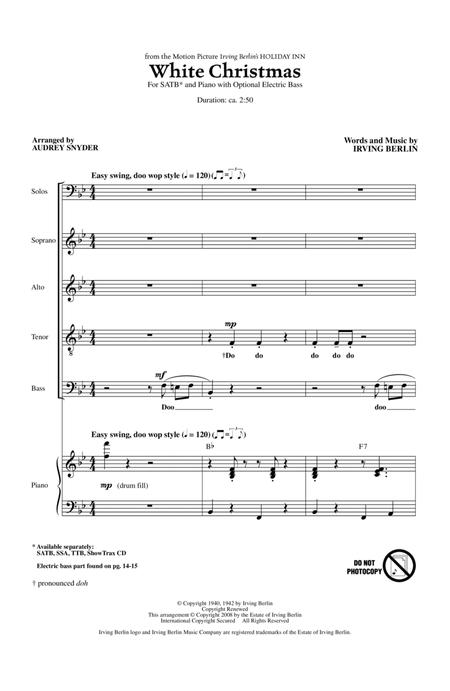White Christmas (arr. Audrey Snyder)