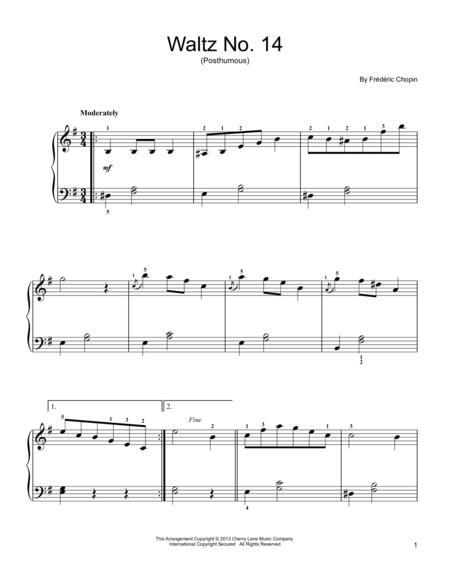 Waltz No. 14, Op. Posthumous, in E Minor