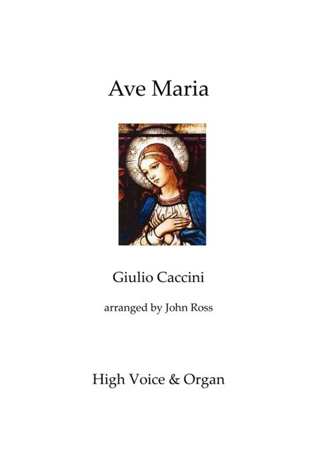 Ave Maria (High Voice, Organ)