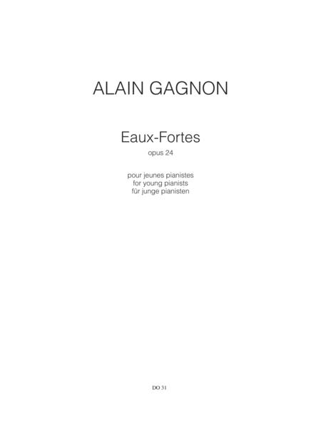 Eaux-Fortes, for young pianists