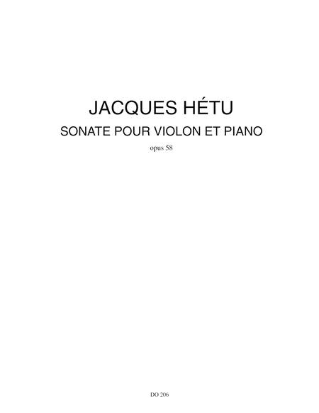 Sonate for violin and piano, op. 58