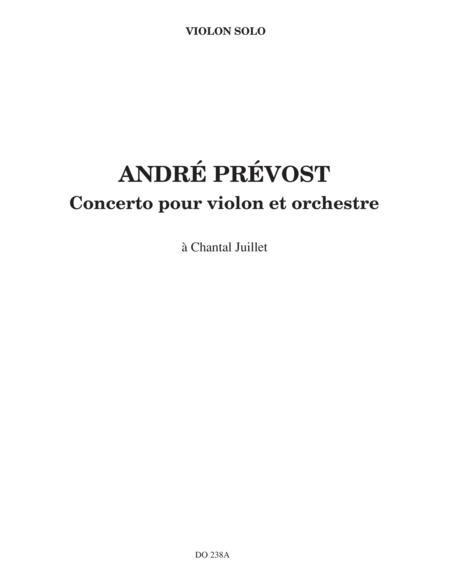 Concerto for violin (violin part)