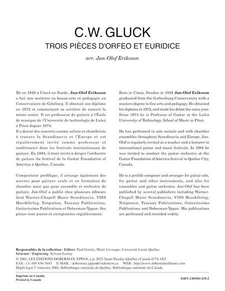 Trois pieces d'Orfeo et Euridice