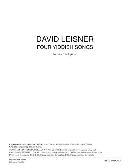 Four Yiddish Songs