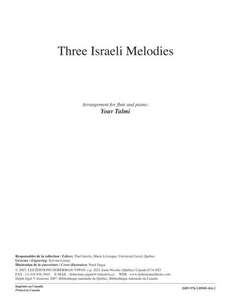 Three Israeli Melodies