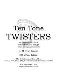 Ten Tone Twisters for SSA Choir & Piano