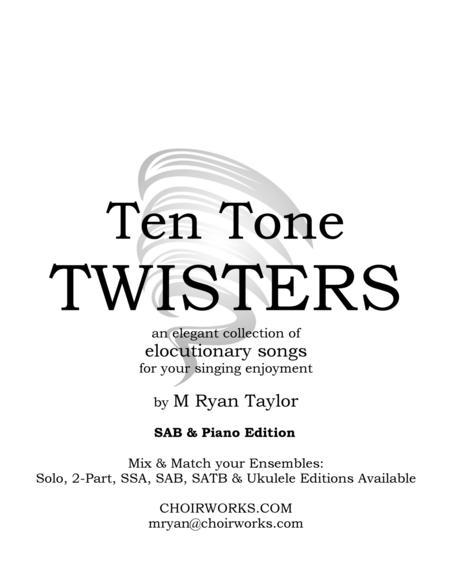 Ten Tone Twisters for SAB Choir & Piano