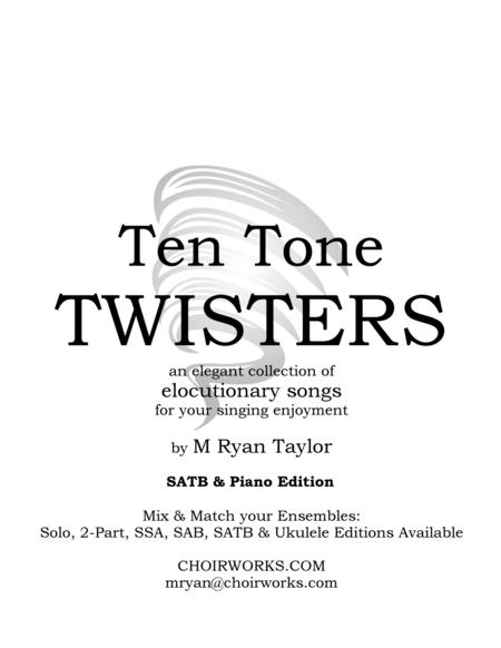 Ten Tone Twisters for SATB Choir & Piano