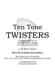Ten Tone Twisters for Voice and Ukulele