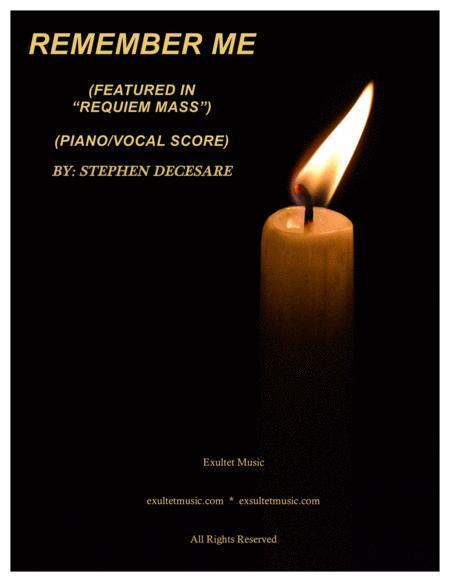 Remember Me (Piano/Vocal Score)