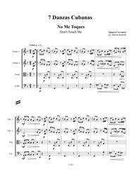 7 Danzas Cubanas, SCORE for string quartet