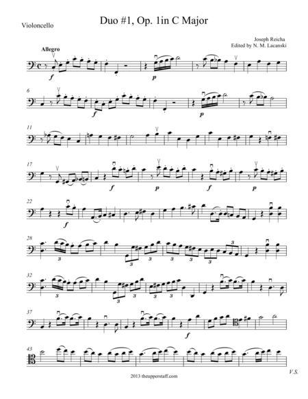 Duo #1, Op. 1 Movement 1 in C Major