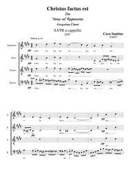 Christus factus est - Choir SATB a cappella