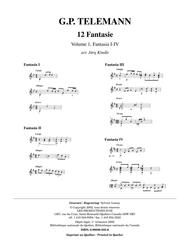 12 Fantasie, vol. 1, Fantasia I-IV