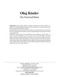 Ten Universal Duets
