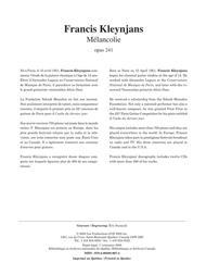 Melancolie, opus 241