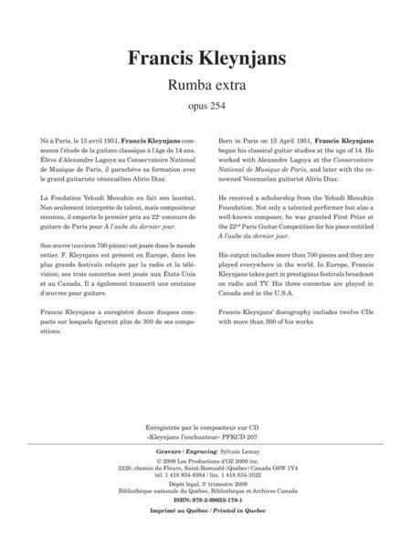 Rumba extra, opus 253