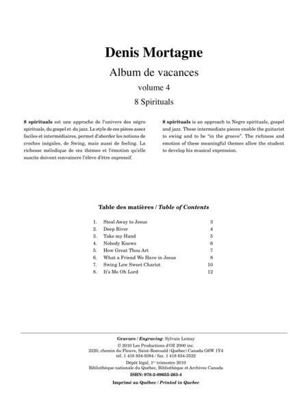 Album de vacances, vol. 4 / 8 Spirituals