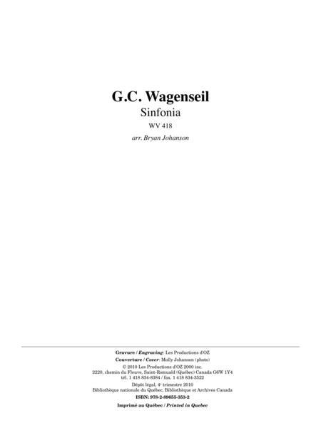 Sinfonia, WV 418