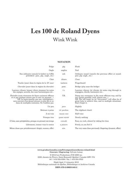 Les 100 de Roland Dyens - Wink Wink