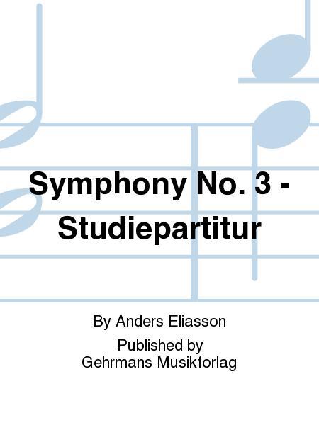 Symphony No. 3 - Studiepartitur