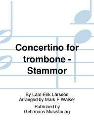 Concertino for trombone  and string orchestra (piano reduction)
