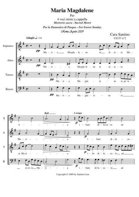 Maria Magdalene - Motet for Choir SATB a cappella