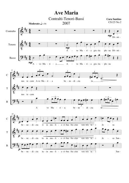 Ave Maria - Choir ATB a cappella