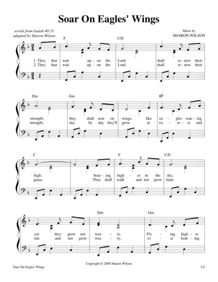 Download Soar On Eagles Wings Isaiah 4031 Sheet Music By Sharon
