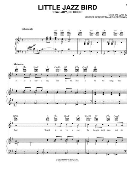 Download Little Jazz Bird Sheet Music By Ira Gershwin Sheet Music Plus