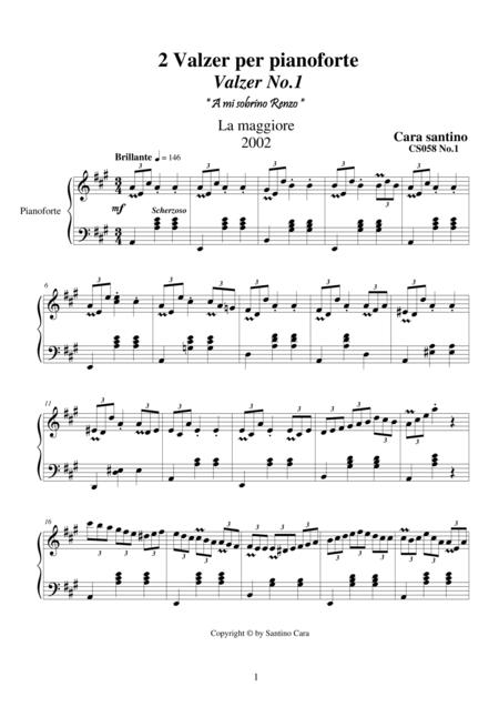 2 Waltzes for piano - CS058