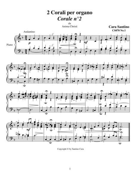 2 Chorales for organ - CS070