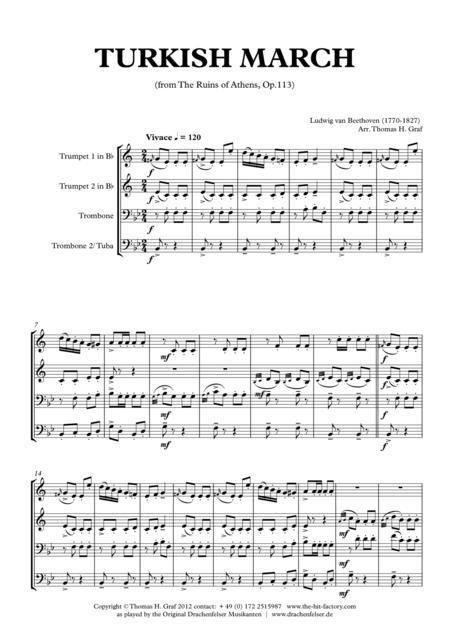 Turkish March - Beethoven - Brass Quartet