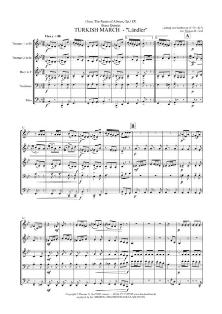 Turkish March Ländler - Beethoven - Brass Quintet