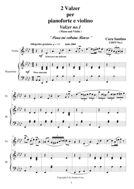 2 Waltzes for Violin and Piano