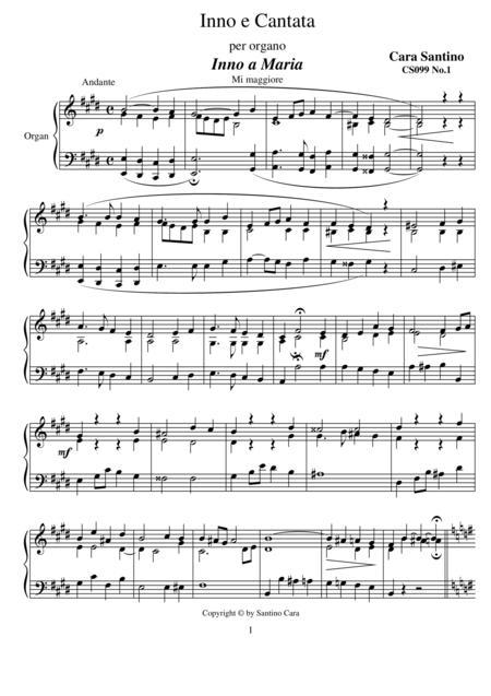 Hymn and Cantata for organ - CS099