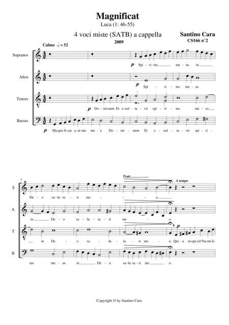 Magnificat - Choir SATB a cappella