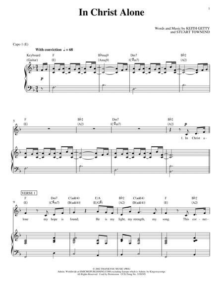 Download In Christ Alone Sheet Music By Passion - Sheet Music Plus