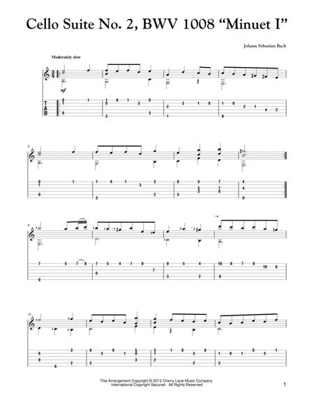 "cello suite no. 2, bwv 1008 ""minuet i"" by johann sebastian bach  johann sebastian bach - digital sheet music for - download & print  hx.258623 | sheet music plus  sheet music plus"