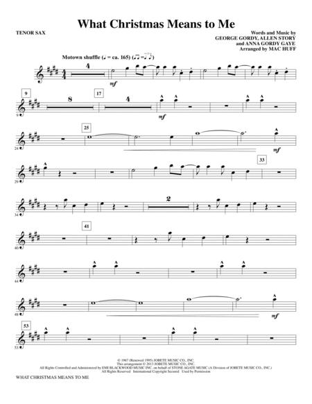 What Christmas Means to Me - Tenor Sax