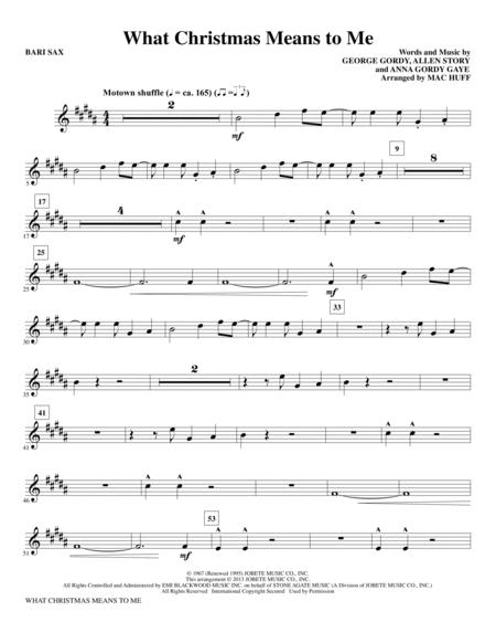 What Christmas Means to Me - Bari Sax