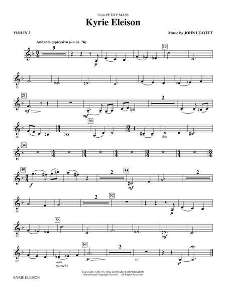 Kyrie Eleison (from Petite Mass) - Violin 1