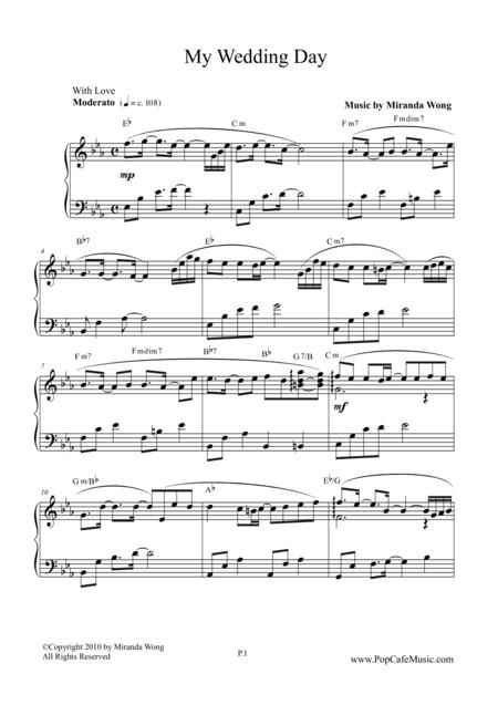 Download My Wedding Day - Romantic Piano Music Sheet Music By