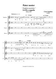 Pater noster - Eucharistic Prayer for Choir SATB a cappella