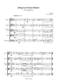 Swing Low, Sweet Chariot - a Jazz Arrangement - For String Quartet
