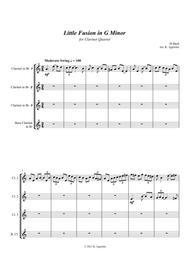 Little Fusion in G Minor - For Clarinet Quartet