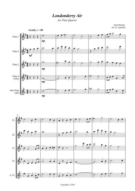 Londonderry Air (Danny Boy) - Jazz Arrangement for Flute Quartet